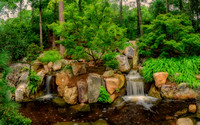 Landscaped Waterfalls